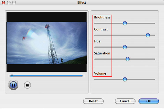 How to rip DVDs and convert Videos on Mac OS X Effect-n3
