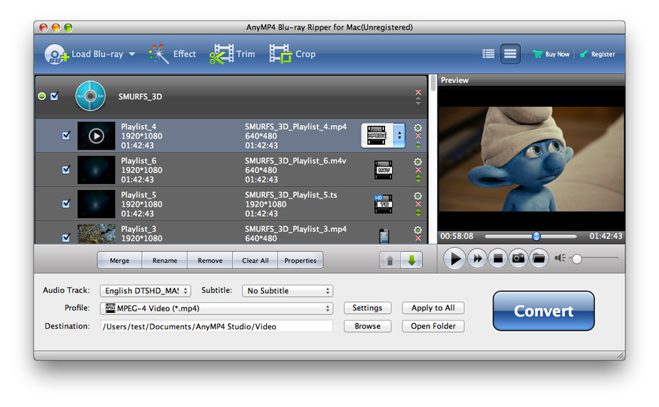 Rip and Convert Blu-ray/DVD to Video/Audio in 180+ Formats on Mac